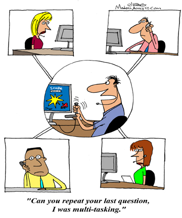 Humor - Cartoon: Telecommuting Business Analyst: a great idea or a mistake?
