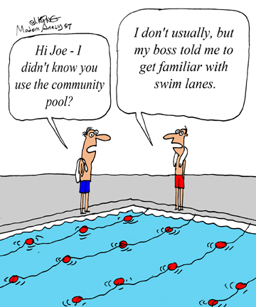 Humor - Cartoon: Get to Know the Swimlane Diagram