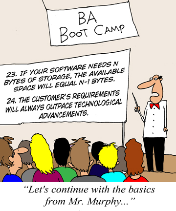 Humor - Cartoon: Key things to remember from the BA Boot Camp