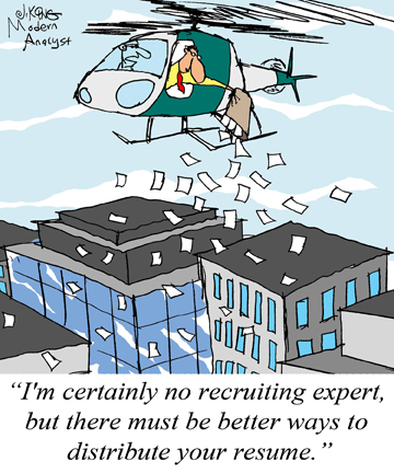 Humor - Cartoon: How to Effectively Distribute your BA Resume