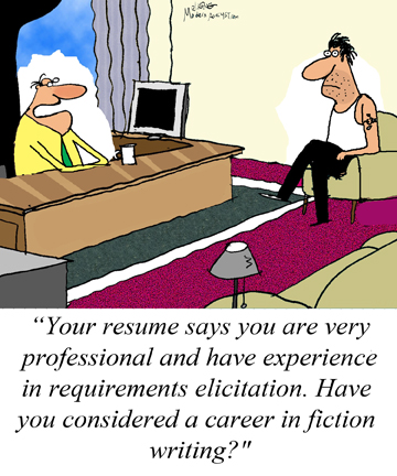 What type of requirements elicitation experience do you have?