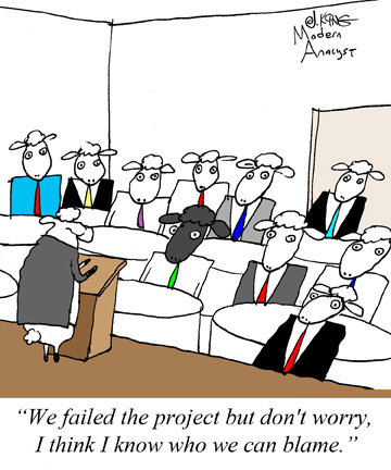 Humor - Cartoon: In your organization, what happens when a project fails?