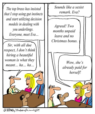 Humor - Cartoon: Sometimes hiring a consultant pays off
