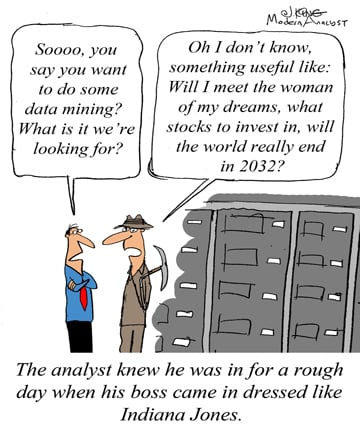 Humor - Cartoon: When the boss doesn't grasp the meaning of Data Mining
