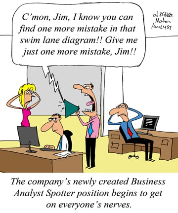 Humor - Cartoon: New Job Opportunity: Business Analyst Spotter