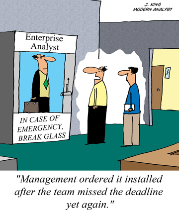 Humor - Cartoon: What to do in Case of a Business Analysis Emergency