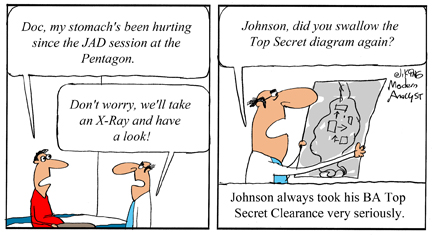 Humor - Cartoon: Business Analyst Top Secret Clearance