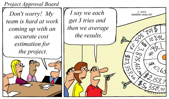 Humor - Cartoon: How do you estimate your Business Analysis or IT project work?