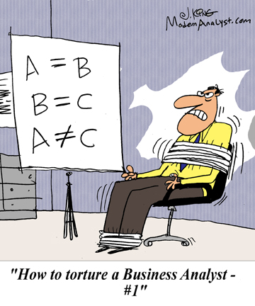 Humor - Cartoon: How to torture a Business Analyst #1