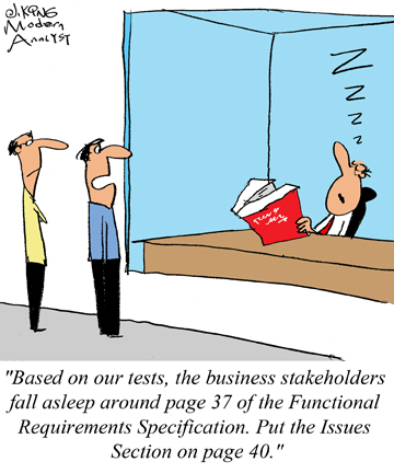 Humor - Cartoon: How to Get Approval from the Functional Specification Stakeholders
