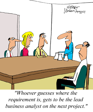 Humor - Cartoon: Lead Business Analyst
