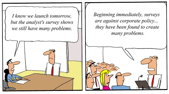 Humor - Cartoon: When Good Analysis Conflicts with Corporate Plans