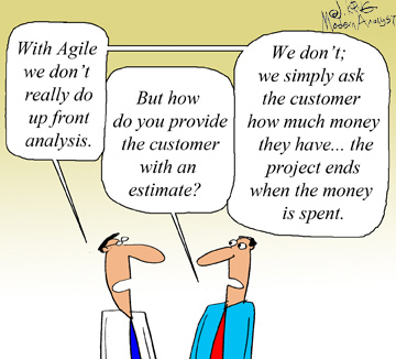 Humor - Cartoon: Agile Upfront Analysis