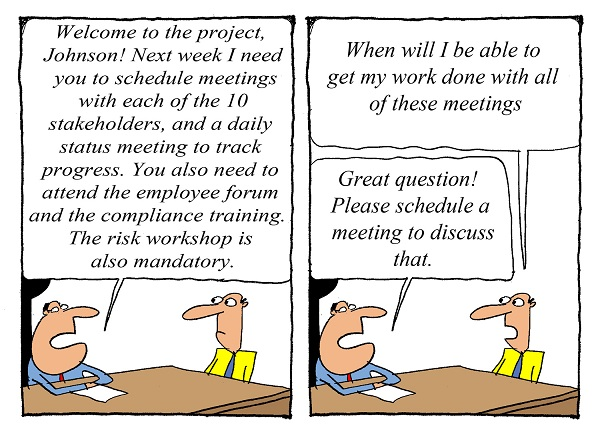Humor - Cartoon: Business Analyst: When do I get my work done?