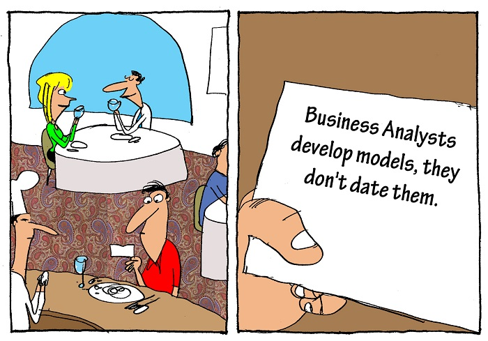 Humor - Cartoon: Business Analyst's Fortune
