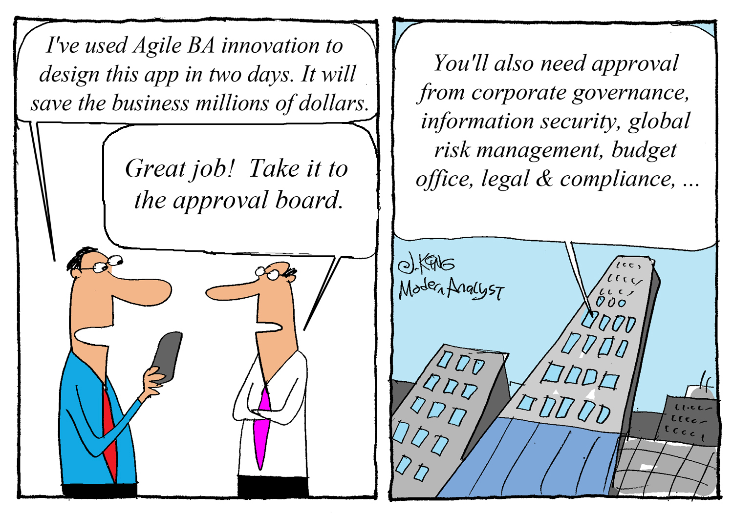 Humor - Cartoon: Agile BA Innovation.. (un)leashed..