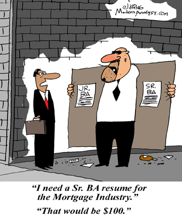 Humor - Cartoon: The Business Analyst and the Recruiter