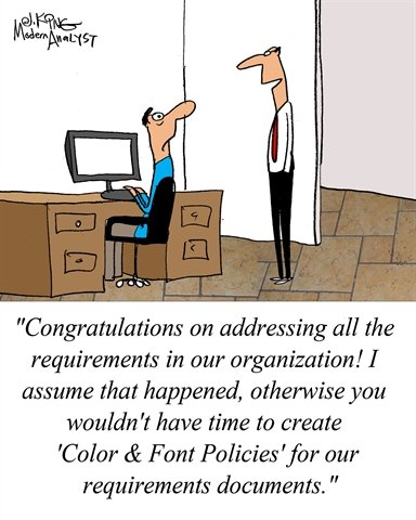 Humor - Cartoon: When Requirements Documentation Standards get Out of Hand