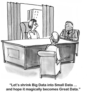 Humor - Cartoon: What should the analyst do with Big Data?