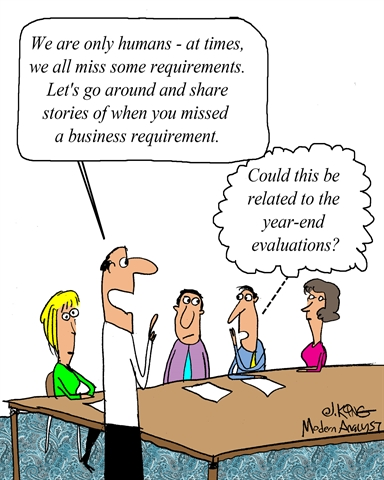 Humor - Cartoon: Missed Requirements Stories