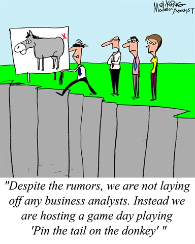Humor - Cartoon: Business Analyst Layoff