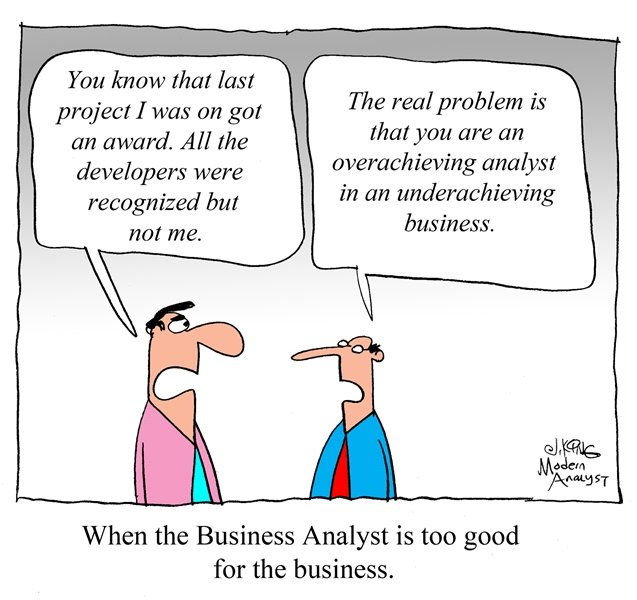 When the Business Analyst is too good for the business...