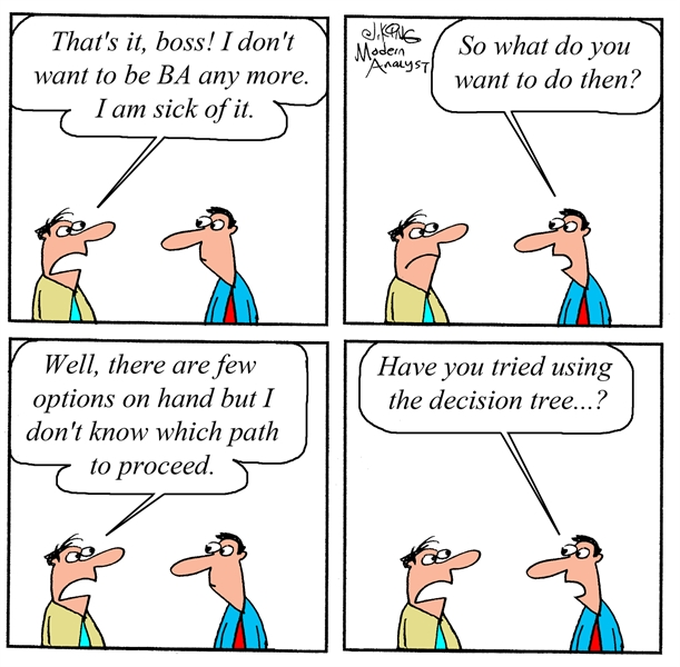 Humor - Cartoon: Business Analyst Career Decision