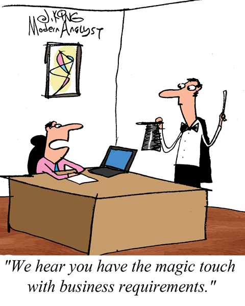 Humor - Cartoon: Magic Touch with Business Requirements