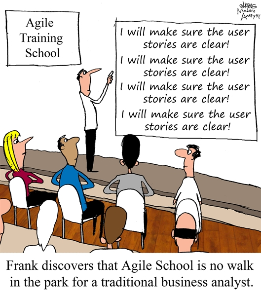 Humor - Cartoon: Agile Training School