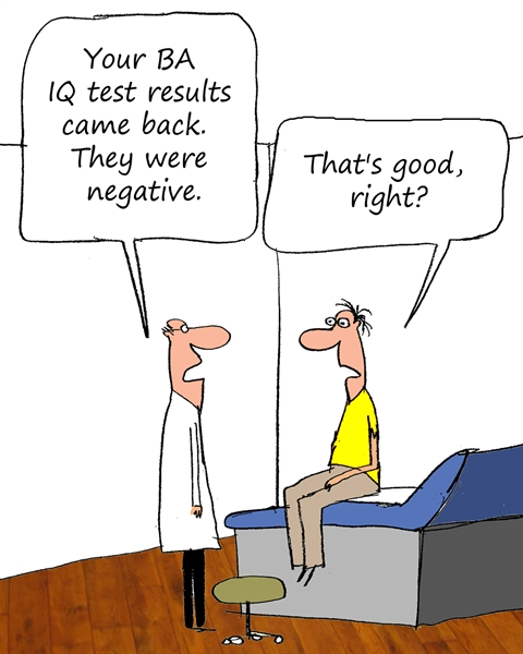 Humor - Cartoon: BA IQ Test