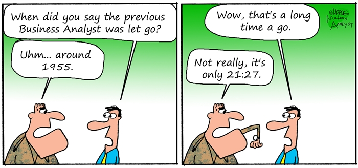 Humor - Cartoon: Business Analyst in the Military