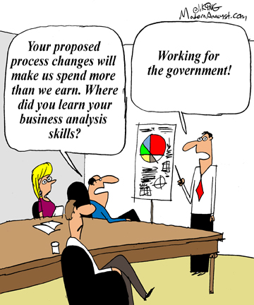 Humor - Cartoon: Make sure you get the right Business Analysis experience