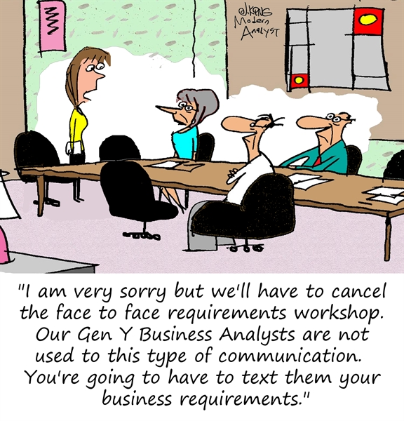 Humor - Cartoon: Gen Y Requirements Gathering