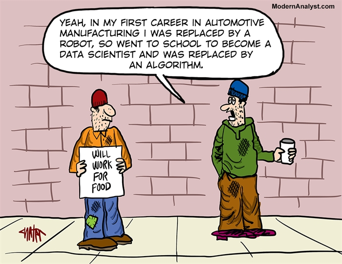 Humor - Cartoon: Downsized Data Analyst
