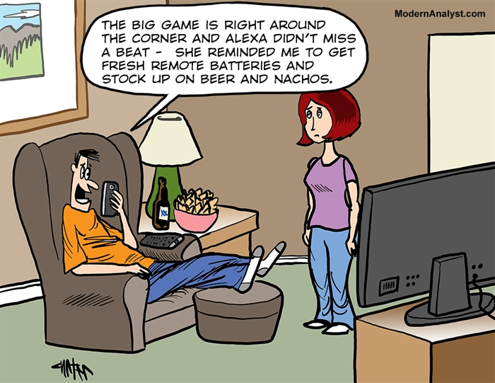 Humor - Cartoon: 21st Century Game-day Automation