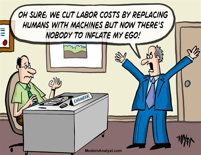 Humor - Cartoon: Process Efficiency Upsets the CEO
