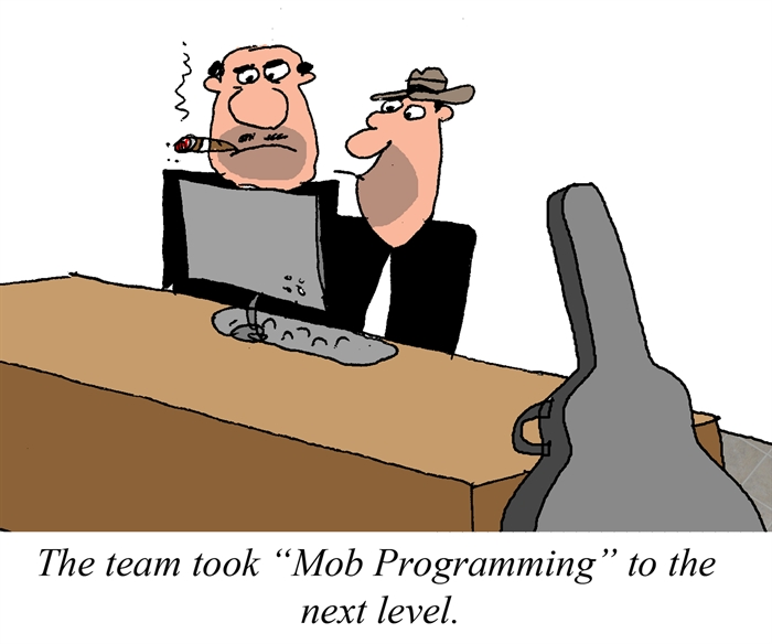 Humor - Cartoon: Mob Programming