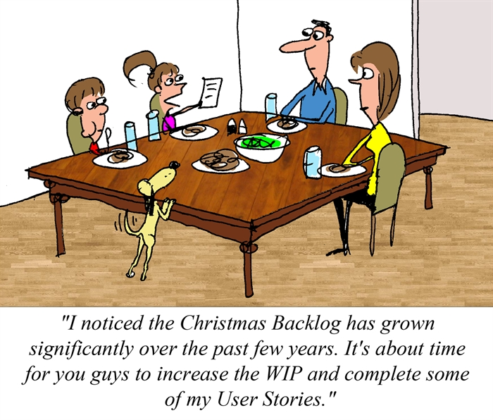 Humor - Cartoon: Christmas Gift Backlog