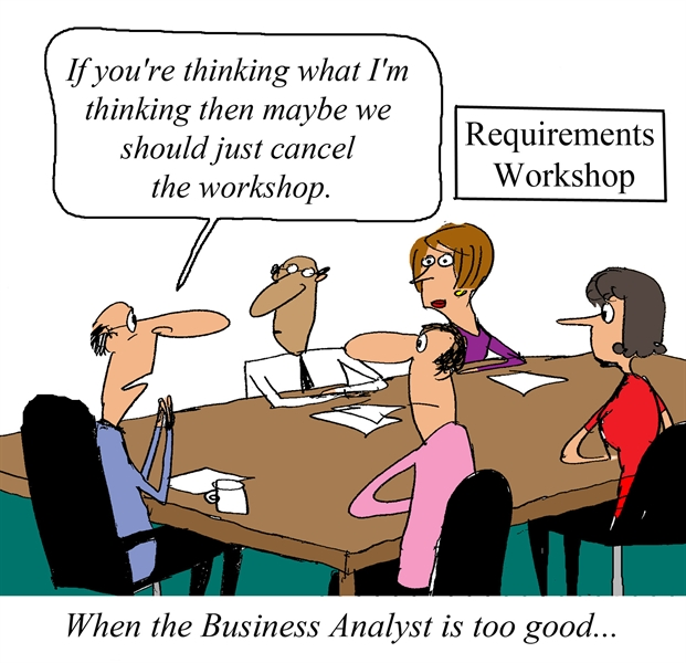 Requirements Workshop lead by an eager Business Analyst