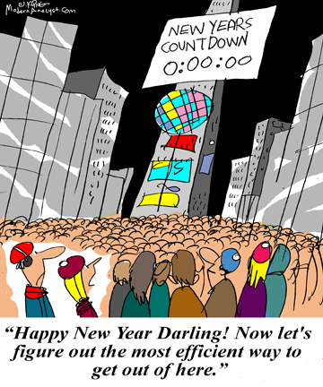 Humor - Cartoon: Happy New Year! - Use Your Analysis Skills Outside the Office