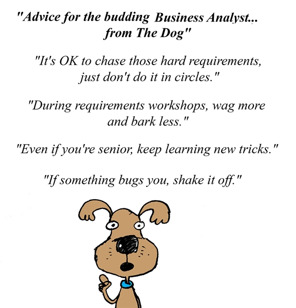 Humor - Cartoon: Advice for the budding Business Analyst... from The Dog