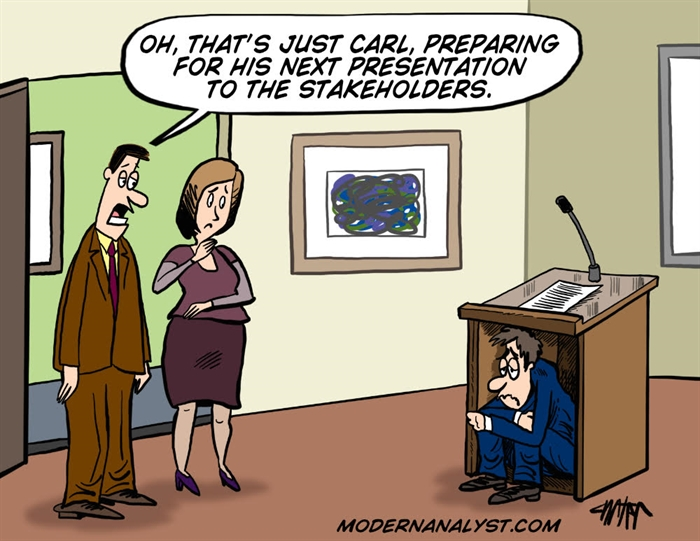 Humor - Cartoon: Stakeholder Presentation