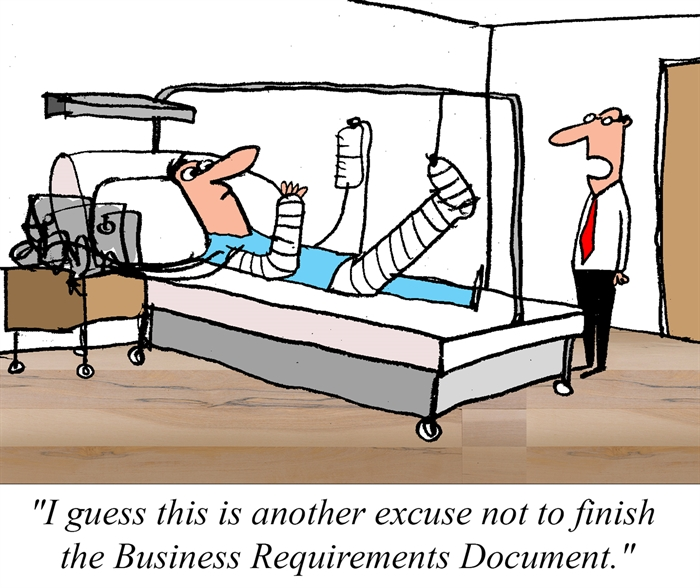Humor - Cartoon: Overdue Business Requirements Document