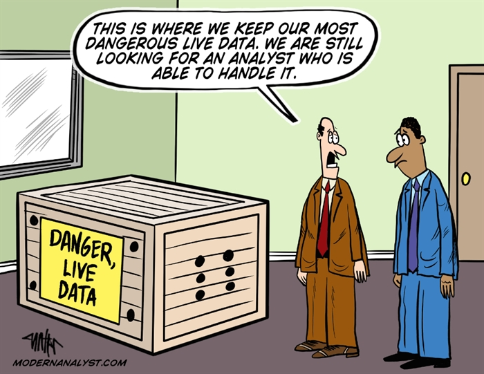 Humor - Cartoon: The Danger of Live Data
