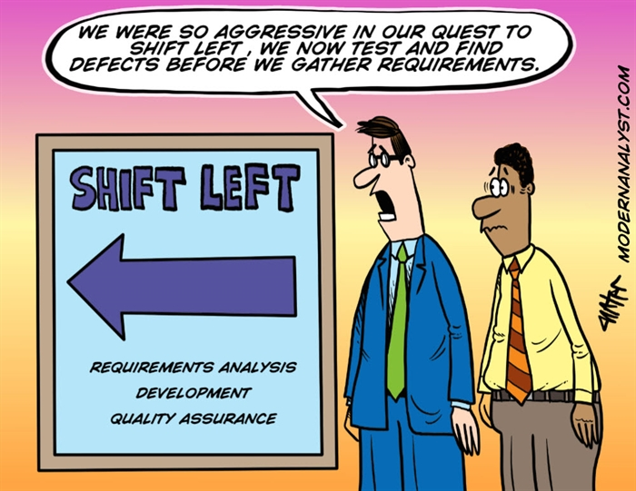 Humor - Cartoon: Shift Left