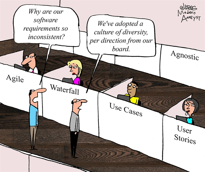 Humor - Cartoon: Requirements Methodology Diversity