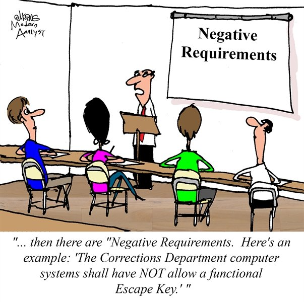 Humor - Cartoon: Negative Requirements