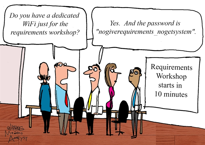 Requirements Workshop Wi-Fi Password