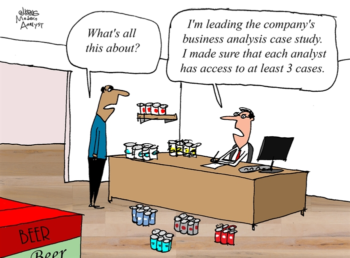 Humor - Cartoon: Business Analysis Case Study