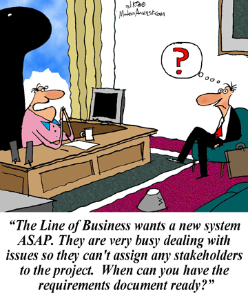 Humor - Cartoon: As a business analyst, do you ever have to